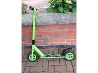 All terrain dirt scooter very strong pneumatic tyres green