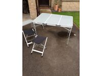 Eurohike camping table and chairs