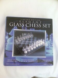 Elegant glass Chess Set