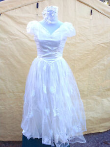 Wedding dress with headpiece - maybe a Halloween costume