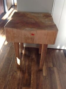Vintage maple butcher block