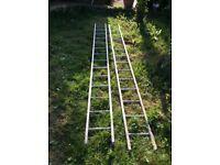 Ladders, double, aluminium