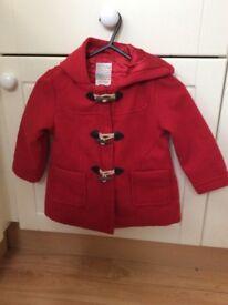 Girls coat by John Lewis 18-24m
