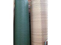 Artificial sand or green rattan weave screening
