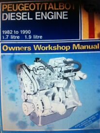 Haynes Manual, Peugeot/Talbot Diesel Engine 82-90