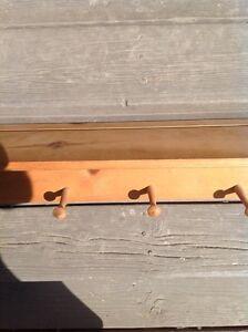Solid wood shelf coat rack pine Peterborough Peterborough Area image 2