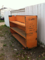 Old post office heavy duty steel shelf.