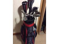 Set of golf clubs with bag great condition