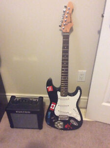 barracuda guitar with Amp and stand