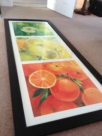Large framed and mounted paintings/prints (price reduced)