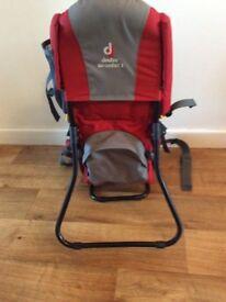 Child carrier by Deuter.