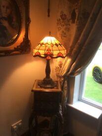 Tall tiffany table lamp