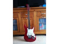 Guitar Stratocaster Squier by Fender in Frost Red 1999