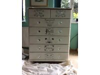 Annie Sloan original white large chest of drawers