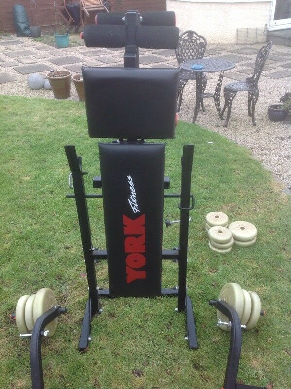 York fitness bench and accessories