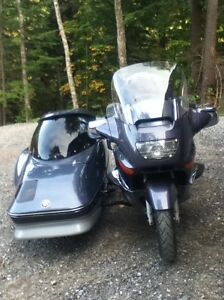 BMW K 1200 LT motorcycle with sidecar and trailer