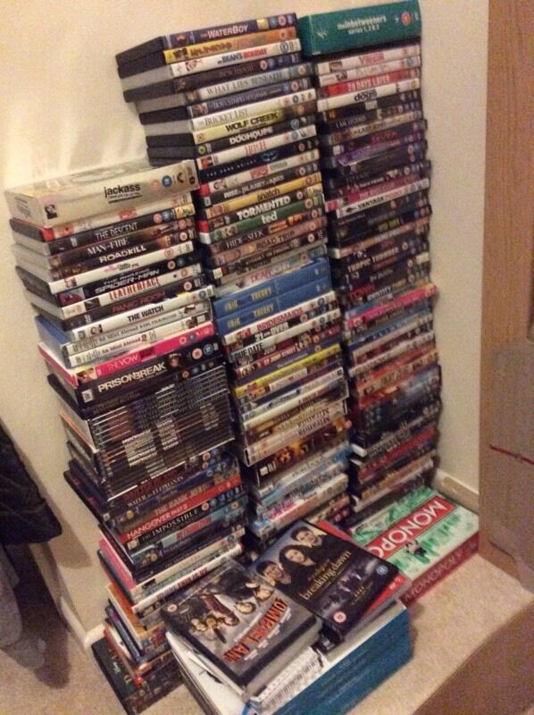 Loads of DVDs. £1 each or 6 for £5