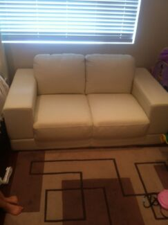 2 Seater leather sofa lounge Eastlakes Botany Bay Area Preview