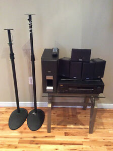 Home Theatre System: Receiver, Speakers, 2 Stands