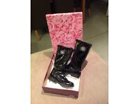 Lelli Kelly girls black patient boots size 32