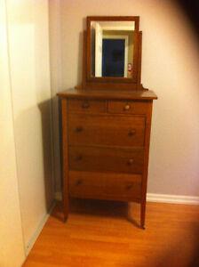 Antique tall boy dresser