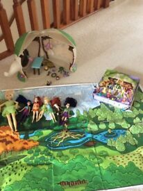 Disney Fairy Tinkerbell House, Dolls & Book With Figures