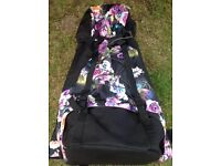 Backpack Large Ladies Black & Floral Holidays / Camping / Festivals Excellent Condition
