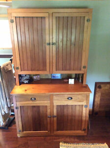 Antique Armoire Early Canadian