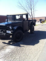 1952 Canadian Military army Dodge M37 $9000 - 416-418-1851