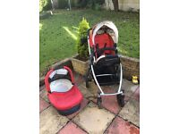 UppaBaby Vista in red and black (2012)