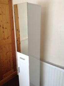 Gloss white tall cabinet