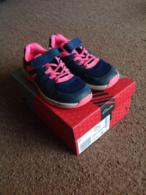 Girls Clarks Trainers 10G