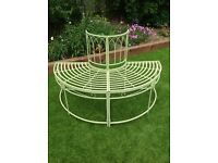 New semi circular tree bench