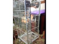 Caged wheeled trolley