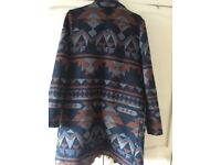 Ladies Aztec Waterfall Coat size 10-14