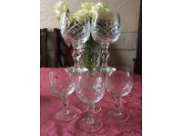EDINBURGH CRYSTAL - White Wine Glasses (x6) (urgent sale!)