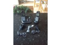 Cordless answer phone twin