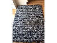 Next Grey 100% wool rug