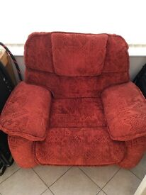 Large Red Armchair