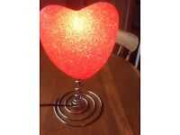 Valentines Heart Shaped Lamp (New)