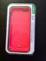 iPhone 5/5S External Battery Case (New/Unopened) (Pink)