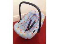Baby Car Seat with Head Support - Birth - 9mths - Free local delivery