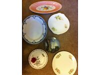 Selection of plates joblot Poole and vintage included