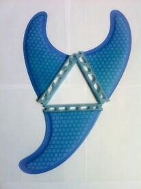 Futures Quad or Thrusters sets Surfboard surf fins Blue Honeycomb surfing fin Quads/thrusters