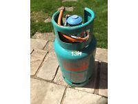 Butane gas bottle 7kg with regulator and pipe