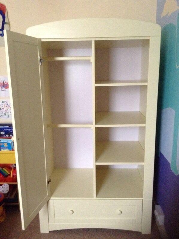 Henley Nursery Furniture Set Cotbed Wardrobe Dresser In Cream