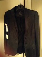 New Aritzia Talula Heather Grey Blazer Size 4