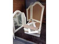 Job lot wood dressing table mirriors X 8. £35 the lot