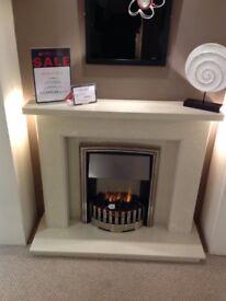 Cyprus Cream Fireplace