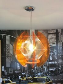 BHS orange pendulum geometric chandelier